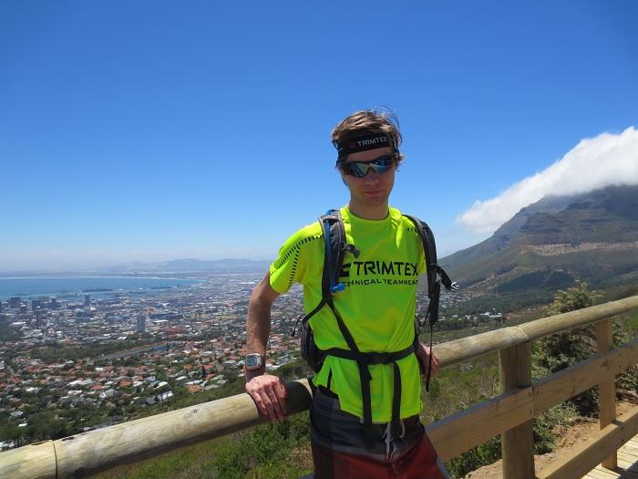 Innan klättringen uppför Table Mountain började