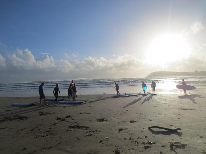 Ett kort jag lyckades ta en av de få stunderna som solen lyste på oss inför ett surfpass.