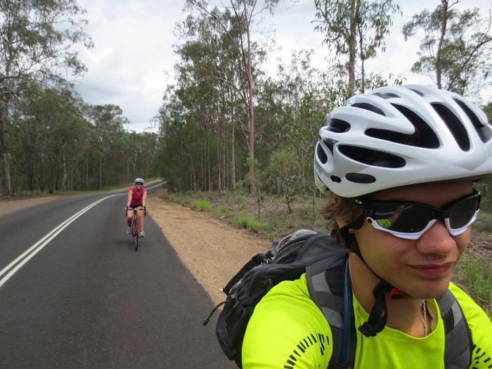 Cykling utanför Brisbane