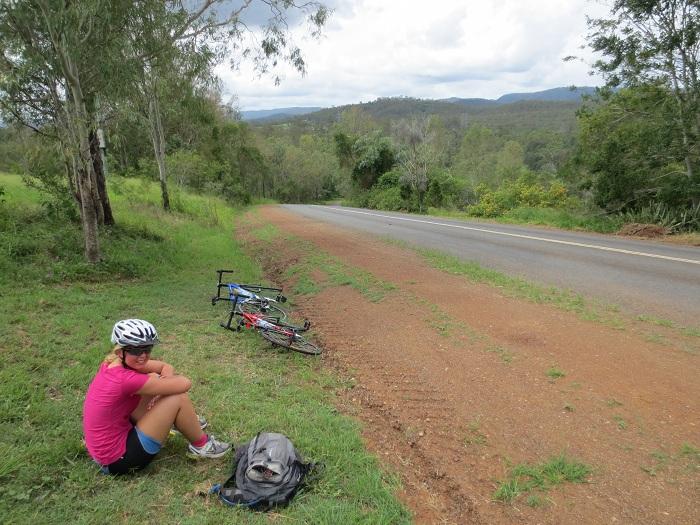 Lunchstopp under cykelturen