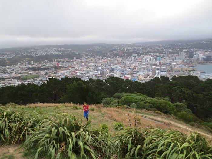 OL på en cool karta med utsikt över Wellington.