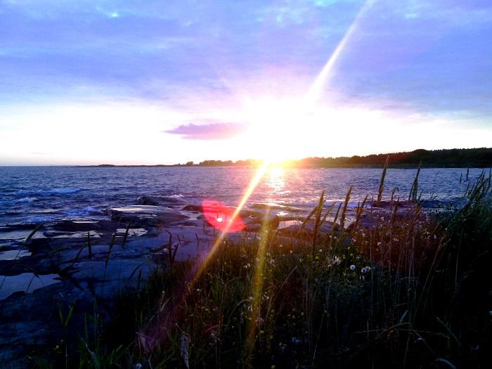 Fin solnedgång ute på Hasslö
